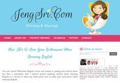 Jeng Sri Personal Blog Template Design | Free Blogger Template, Blogger Widgets,Vector, Icon, Design Resources,Design Inspiration
