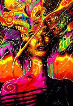 Jared Africa's psicodelic art
