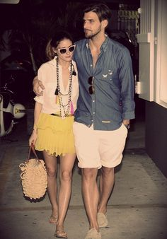 THE OLIVIA PALERMO LOOKBOOK: LOOK OF THE DAY : Olivia Palermo in St Barts with Johannes Huebl