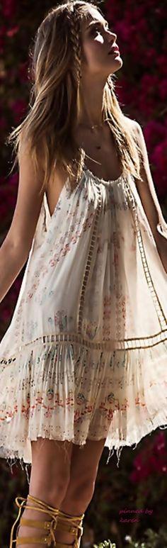 gorgeous dress Boho chic bohemian boho style hippy hippie chic bohème vibe gypsy fashion indie folk So feminine....