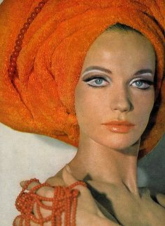 Veruschka (is wearing a towel by Martex as only she can ;-) , photo by Franco Rubartelli for Vogue, 1967