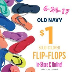 4bb94f1c0c9 Coupon Savvy Sarah  Old Navy  1 FLIP FLOPS SALE is June 24th!! See all.