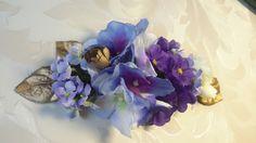 EL COFRE AZULADO: un tocado en tonos azules y lilas, aqui va combina...