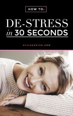 Wellness Guide to Micro-Meditation: how to de-stress in 30 seconds (or less) with 3 simple exercises that can be done at your desk. - Learn how to de-stress in 30 seconds or less. Stress Less, Reduce Stress, Stress Free, How To Relieve Stress, How To Destress, Anxiety Relief, Stress And Anxiety, Stress Relief, Reiki