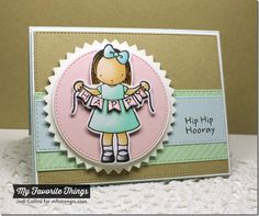 Happy Banner stamp set and Die-namics, Diagonal Stripes Background, Circle STAX Set 2 Die-namics, Pinking Edge Circle STAX Die-namics, Stitched Circle STAX Die-namics, Vertical Stitched Strips Die-namics - Jodi Collins #mftstamps