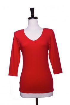 Type 4 True Red 3/4 Sleeve Exact-T - $24.97