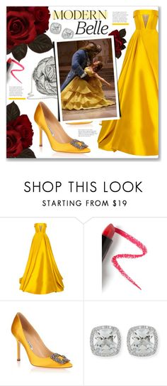 """""""Beauty and the Beast!"""" by lilymillyrose ❤ liked on Polyvore featuring Alex Perry, Lapcos, Manolo Blahnik, Frederic Sage, Judith Leiber, BeautyandtheBeast and contestentry"""