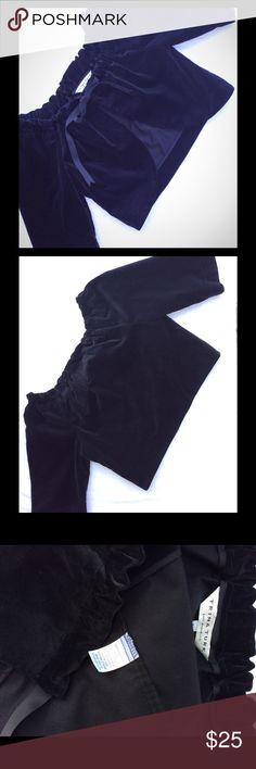 Trina Turk black velvet Jacket Trina Turk size large black velvet unconstructed little jacket, Excellent condition/gently used excellent for eveningwear or just with jeans Trina Turk Jackets & Coats
