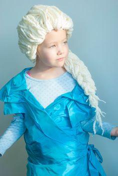 鉤針圖案艾爾莎假髮裝扮凍結Warrelwater