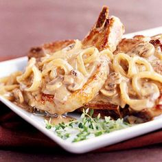 Slow cooker Mushroom-Sauced Pork Chops - from diabetic living