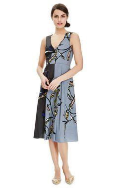 Printed Cotton V-Neck Dress by Marni - Moda Operandi