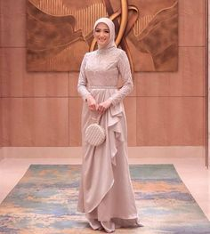 Dress Muslim Modern, Dress Brokat Modern, Kebaya Modern Dress, Model Kebaya Modern, Muslim Dress, Dress Brokat Muslim, Modest Fashion Hijab, Hijab Style Dress, Hijab Dress Party
