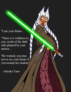 I think part of the reason, a small part, but a part none the less, Ahsoka left the Order, the Jedi in general, was because she remember this vision of hers. She always took to heart what her masters said, like how you always get a vision for some reason or another.