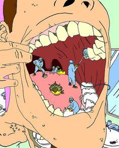 los dientes no se limpian solos, necesitan una ayuda profesional ! :)