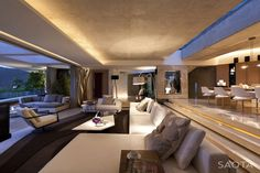 modern architecture - saota - la grande vue 5a - cape town - south africa - interior view - living room