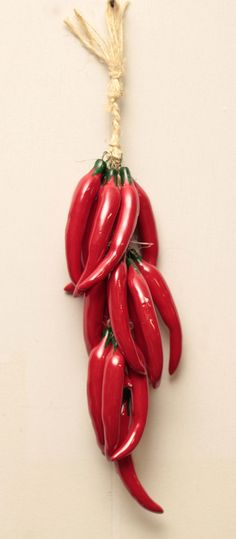 MEXICAN WALL HANGING CERAMIC CHILE RISTRA CCP009_SM