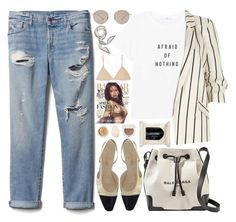 """326. Afternoon Work"" by ass-sass-in ❤ liked on Polyvore featuring Gap, MANGO, River Island, Gucci, H&M, Base Range, Balenciaga, Chanel, Chantecaille and Christian Dior"