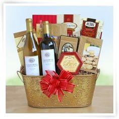 2 Bottle Wine, Sweets and Treats Gift Basket