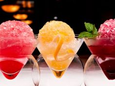Boozy Snow Cones at the Ritz? Yes, please! Watermelon w/ lime & tequila, Passion fruit w/ lemon & bourbon, Blackberry w/ honey & moonshine