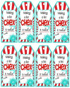 Printable Chex Mix Gift Tags Neighbor or by Pinkowlpartydesign