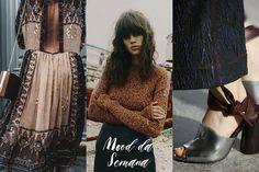 Mood da Semana - vestido folk bordado, cabelo com franja ao natural e sandálias pesadas 3.1 Phillip Lim <3