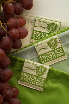 Amazon.com: ChicoBag Produce Stand Complete Starter Kit - rePETe, rePETe Mesh & Hemp-Cotton Reusable Produce Bags with Pouch (Set of 3): Sports & Outdoors