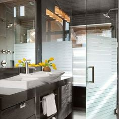 Like the etched/frosted glass shower door