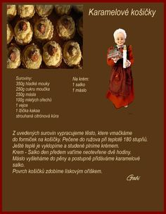 Czech Recipes, Christmas Cookies, Oreo, Baking Recipes, Diy And Crafts, Picnic, Food And Drink, Sweets, Eat