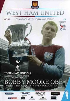 West Ham Team, West Ham Players, Jimmy Armfield, Football Program, Football Fans, West Ham United Fc, Bobby Moore