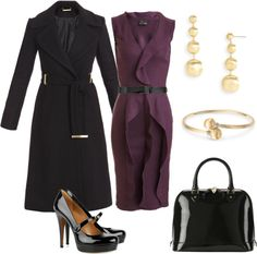 Grape and Black Work Outfit