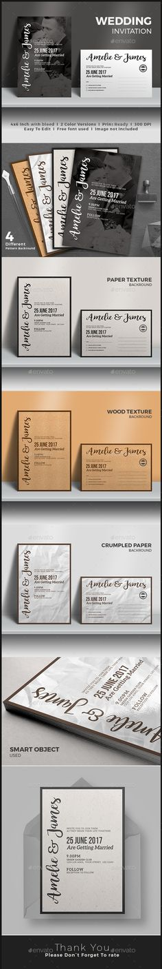 Wedding Invitation - Weddings Cards & Invites Download https://graphicriver.net/item/wedding-invitation/17118478?ref=themedevisers
