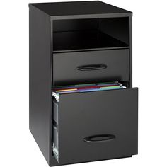 Office Designs Black Steel 2-drawer File Cabinet with Shelf | Overstock.com Shopping - The Best Deals on Vertical File Cabinets $69