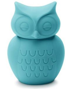 KG Design owl money box in turquoise
