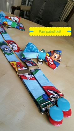 paw patrol suspenders,chase,rocky,Marshall bow tie set by Bumpsgigglesandpops on Etsy