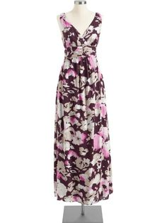 Old Navy Women's Floral Maxi Dresses in Purple Print