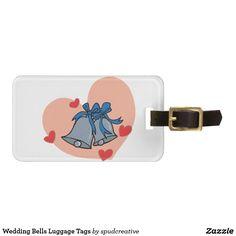 Wedding Bells Luggage Tags