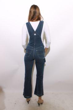 Woman in Denim Overalls