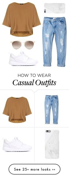 """Casual with Nike roshe"" by hellobrit on Polyvore"
