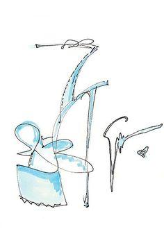 Platform Sandal Sketch , Giuseppe Zanotti Spring 2012.