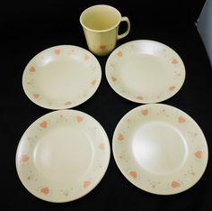 "Set of 6 Corelle Blue Dusk Bread//Salad//Dessert Plates 7 1//4/"" Blue Bell Flowers"