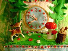 cutest ever felt and woodland creature kitschy clock! I think I love this