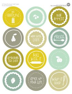 Top your week off with this FREEBIE FRIDAY: Mason Jar Labels . You can print it on Avery® Circle Labels or a blank piece of cardstock and cut with a circle punch! Fonts used: LD Whimsical and DB Little What-nots. Mason Jar Crafts, Mason Jars, Homemade Gifts, Diy Gifts, Canning Jar Labels, Illustrations Vintage, Diy Cadeau, Do It Yourself Inspiration, Circle Labels