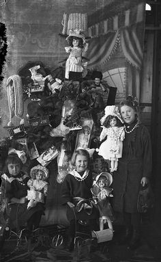 The Christmas Dolls by glenbowmuseum, 1920