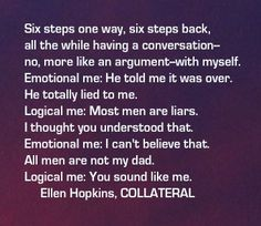 The Ellen Hopkins Quote of the Day is from COLLATERAL