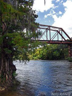 Train bridge over the Flint River in Albany, Georgia