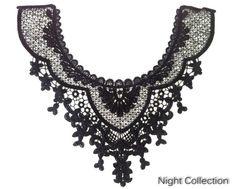 Arabesque Style Floral Crochet Black Necklace by kbazaar2012, $5.00