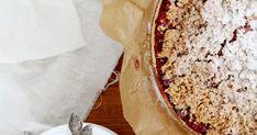 Szybkie kruche ciasto na płatkach oowsianych z masą biłakowo-budyniową i owocami Banana Bread, Pie, Desserts, Food, Torte, Cake, Meal, Fruit Pie, Deserts