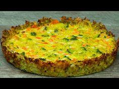 Brokolickový koláč - neobsahuje žádnou mouku a přitom je tak výborný (gl. Sin Gluten, Gluten Free, Yummy Vegetable Recipes, Bulgarian Recipes, Appetisers, Family Meals, Foodies, Good Food, Food And Drink
