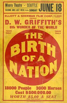 Vintage Posters - The Birth Of A Nation Vintage Movie Poster Vintage Movie Posters - Vintage Movie Posters Old Movies, Vintage Movies, Great Movies, Classic Movie Stars, Classic Movies, Cinema Posters, Film Posters, Vintage Labels, Vintage Posters