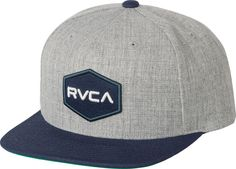 The RVCA Commonwealth II Snapback is a mid-fit, 5-panel snapback hat with an embroidery detail at the front and a VA patch at the back.